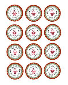 Christmas Cupcake Topper Printable