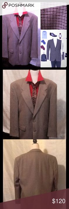 "🆕EUC🍂GIVENCHY Wool MicroHoundstooth Sport Coat🍂 GIVENCHY Micro Houndstooth, 100% Wool Blazer🍂RETAILED AT $1,775🍂Another pre-loved Givenchy blazer like this went up for sale at $750.🍂This is such a Chameleon; sort of a taupe/grey with brown.  Single breasted; with Edge Stitching, Structured Shoulders, Peak Lapel, Single button closure in front, Six accent buttons on cuffs, Tonal stitching, Dual flap pockets, Three interior welt pockets, No back vent. Chest Front 20"", Chest Back 22""…"