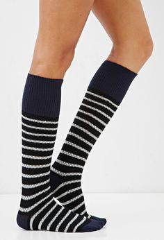 Striped Knee-High Socks