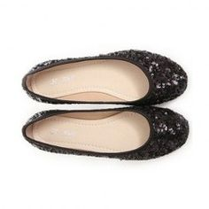 $15.69 Stylish Women's Flat Shoes With Sequins and Round Toe Design