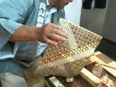 寄木細工の実演2 - Yosegi Zaiku demonstration 2