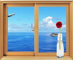 Beyond the window frame