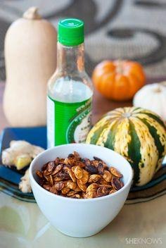 Ginger-Soy Pumpkin Seeds   18 Ways To Make Pumpkin Seeds Delicious