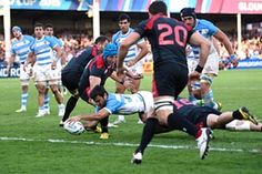 Argentina 54-9 Geòrgia #RWC2015 #ARG vs #GEO #VamosPumas vs #RugbyIsOurGame /  Landajo finds the space to score the fifth try for Argentina.