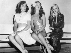 Paulette Goddard, Dorthy Lamour and Veronica Lake