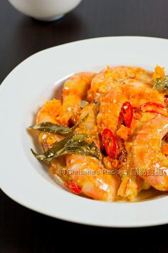 Butter Prawns - Christine's Recipes: Easy Chinese Recipes | Easy Recipes