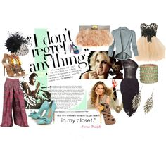 Carrie Bradshaw Vogue Editorial Spread, created by sideeyeworthy on Polyvore