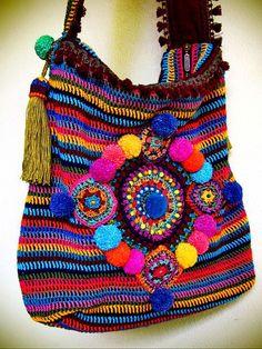 Farb-und Stilberatung mit www.farben-reich.com - ~ colorful crohet bag ~