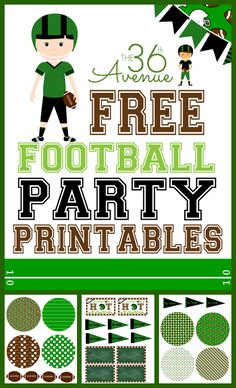 Football Party Printable the36thavenue.com