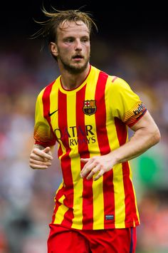 Ivan Rakitic of FC Barcelona looks on during the La Liga match between FC Barcelona and Athletic Club at Camp Nou on September 13, 2014 in Barcelona, Catalonia.