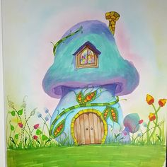 Day 10/31. Mushroom house. #31daydrawingchallenge #doneBYmargo #drawingchallenge #drawing #illustration #polishartist #polishart #promarker #copicart #copic #promarkerart #mushroom #cute #ilustracja #rysunek #marker #markerart #grzybek #fairyhouse #instaart