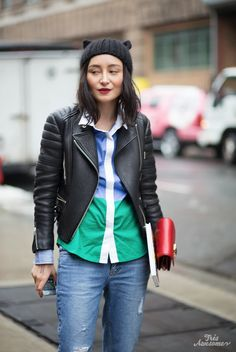 spaced biker geek - Très Awesome ♥ Chicago Street Style: Cat Ears