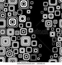 Seamless Black-And-White Retro Pattern Stock Vector 33048145 ...