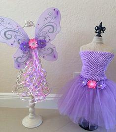 Purple Fairy Tinkerbell Fairy Fairy Costume by partiesandfun