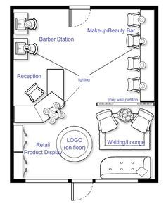 beauty salon floor plan layouts - Google Search