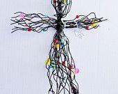 beaded wire wall cross ideas