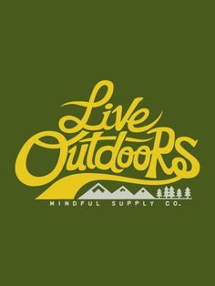 Mindful Supply Co Live Outdoors T-Shirt (Mens), Made in USA
