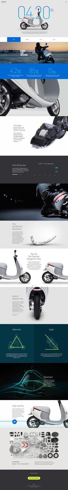 Elegant & Clean Website Design for Scooter Company