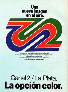 Publicidad CANAL 2 de La Plata, Argentina, 1980.