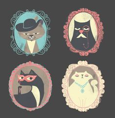 Posh Cats by Franklin Mill, via Behance