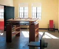 Donald Judd's desk.   Slideshow: Donald Judd's Furniture | BLOUIN ARTINFO