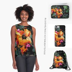"""Get these """"Chorizema 'Bush Flame'"""" Tops iPhone Cases Laptop Sleeves Bags and more!  Available only from http://ift.tt/2l9jTIi http://ift.tt/2lU4cSv (Direct Link)  #flowers #garden #nature #products #cards #clothing #arts #crafts #technology #iphone #samsung #cases #bags #totes #photography #prints #home #housewares #clocks #journals #pillows #clocks #mugs #shop #shopping #redbubble"""