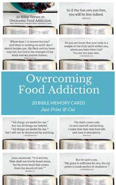 20 Powerful Bible Memory Cards to Overcome Food Addiction, for my clients who struggle