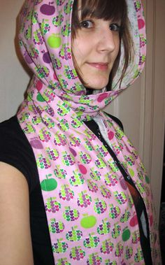 How to sew a hooded scarf or scoodie