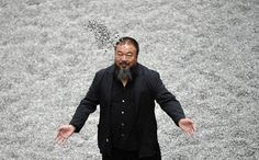 <3 Ai Weiwei  -  The latest instalment of Britain's largest contemporary art commission was unveiled at the Tate in the Turbine Hall this morning: a vast carpet of porcelain replica sunflower seeds assembled by artist Ai Weiwei, each hand-fired and hand-painted by inhabitants of Jingdezhen, the 'porcelain capital' of his native China. Here's a first glimpse inside