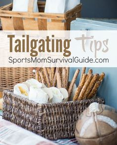 Tailgating Tips for a GREAT day at the GAME! Find ideas and recipes for your next party.