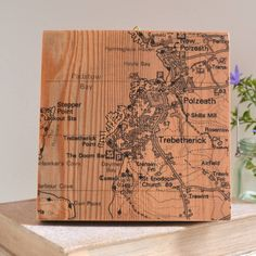 5th Anniversary - Personalised Map Reclaimed Timber Artwork from notonthehighstreet.com