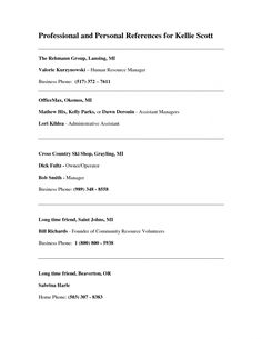 Personal Reference List Template Resignation Letter Template October 2012  News To Gow  Pinterest .