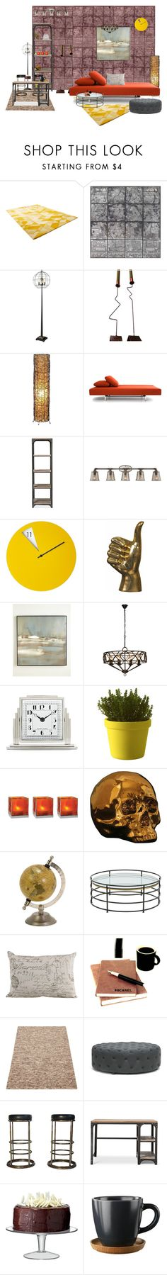 """""""Untitled #1409"""" by lindagama on Polyvore featuring interior, interiors, interior design, home, home decor, interior decorating, Cyan Design, Universal Lighting and Decor, Benson-Cobb Studios and Ralph Lauren Home"""