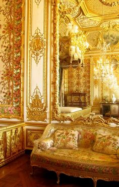 Palace of Versailles: interior detail: