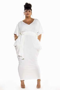 Looks plus size para festa Curvy Girl Fashion, Look Fashion, Womens Fashion, Fall Fashion, Plus Size Dresses, Plus Size Outfits, Big Size Dress, All White Outfit, Plus Size White Outfit