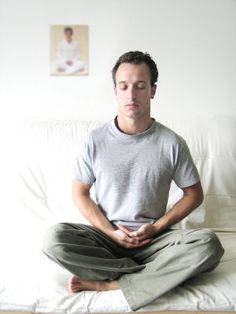 No matter where you are, you can try breathing meditation, whether you're at work or sitting in traffic. The key is to breathe in slowly from your abdomen and fill your lungs with as much oxygen as possible. Breathe in through your nose and exhale slowly through your mouth. The more oxygen your body gets, the less tense, anxious, or out of breath you'll feel. It's quite literally the opposite of hyperventilating- give it a try!