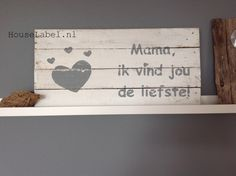 Pallet bord - Mama met hart Made by HouseLabel.nl