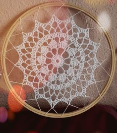 Crochet Doily Patterns, Crochet Doilies, Stitch Patterns, Crochet Round, Cute Crochet, Lace Dream Catchers, Crochet Dreamcatcher, Bohemian Pattern, Crochet For Beginners
