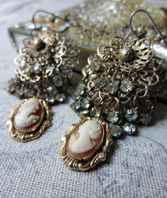 'cameo glamour' earrings by The French Circus on Etsy