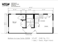 in law suite floor plans - Google Search  ~ Great pin! For Oahu architectural design visit http://ownerbuiltdesign.com