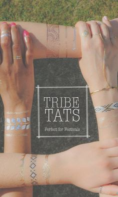 TribeTats, so cool, for parties, beach, classy