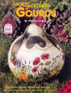 Great Garden Gourds Book by Aurelia Conway - Decorative Painting
