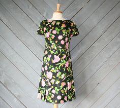 vintage 60s nat kaplan silk floral dress