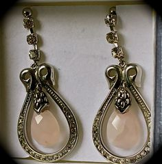 Swarocski WC and Rose Quartz Hook      $26.00