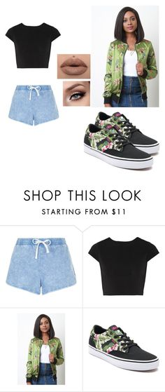 """""""Untitled #41"""" by blessingokauru ❤ liked on Polyvore featuring New Look, Alice + Olivia and Vans"""