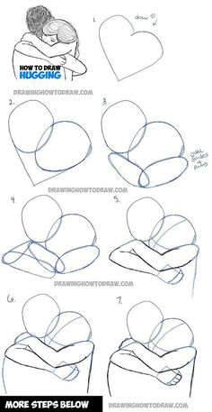 How to Draw Two People Hugging : Drawing Hugs Step by Step Drawing Tutorial - Pi. - How to Draw Two People Hugging : Drawing Hugs Step by Step Drawing Tutorial – Pinehouse – How - Drawing Techniques, Drawing Tips, Drawing Sketches, Drawing Ideas, Drawing Art, Sketching, Drawing Poses, Drawing Reference, Design Reference