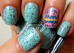 Easter Robin Egg Manicure nail art idea
