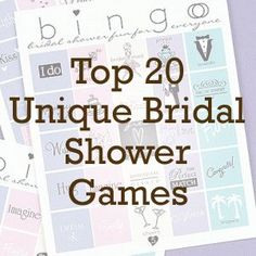 Top 20 Unique Bridal Shower Games | Beau-coup Wedding Blog