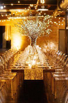 Chicago Real Wedding Photos: A Romantic Winter Wedding in Chicago - Hochzeit Winter Wedding Decorations, Wedding Table Centerpieces, Wedding Chairs, Flower Centerpieces, Reception Decorations, Centerpiece Ideas, Winter Weddings, Wedding Tables, Centrepieces