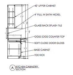 TECHNICAL DRAWING (AutoCAD) Kitchen Cabinetry Section